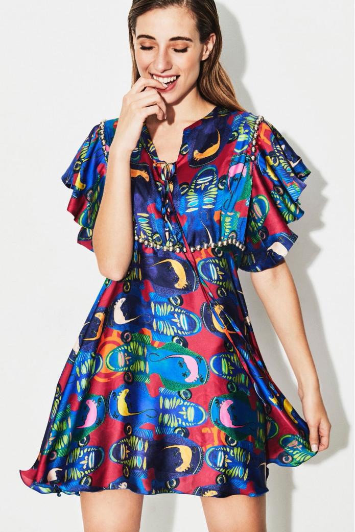 African Short Dress -TETE BY ODETTE